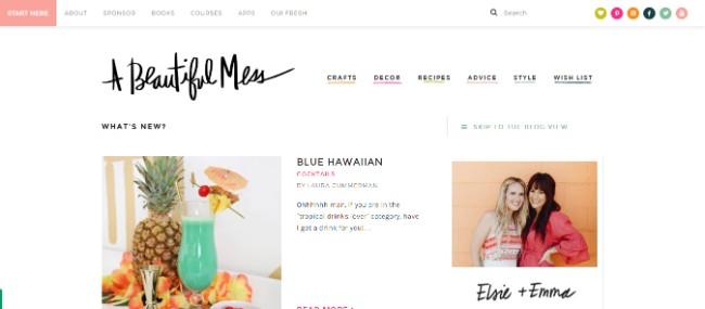 A Beautiful Mess inspiring website