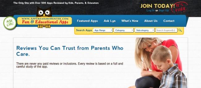AppTreasureHunter inspiring website