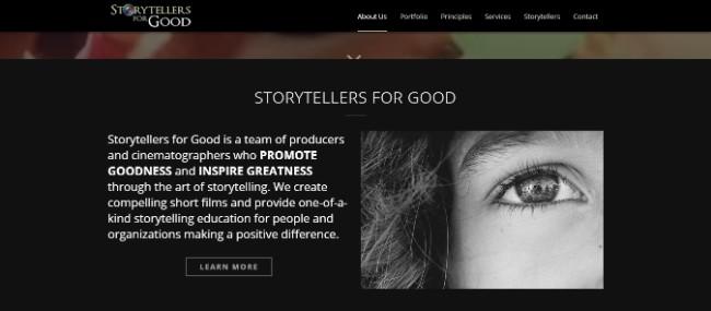 Storytellers for Good inspiring website