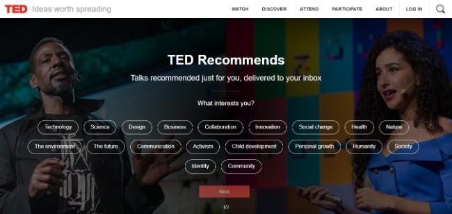 TED inspiring website