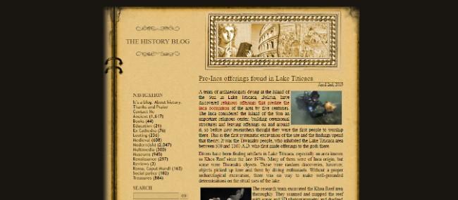 The History Blog inspiring website