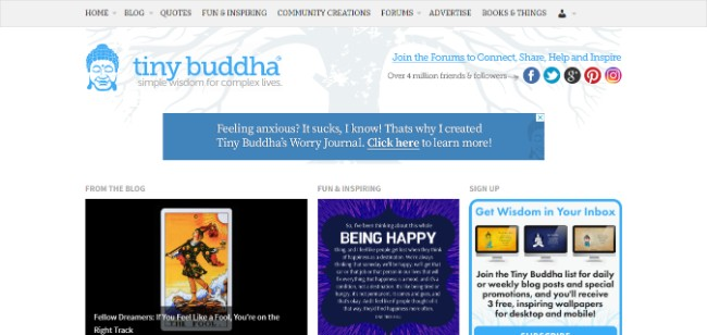 Tiny Buddha inspiring website