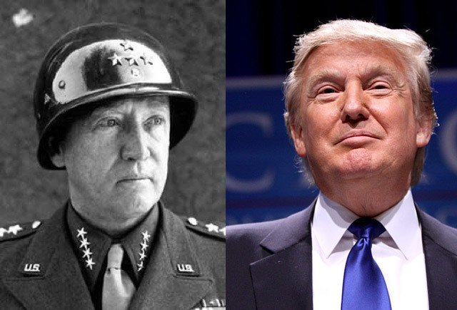 General George Patton and Donald Trump