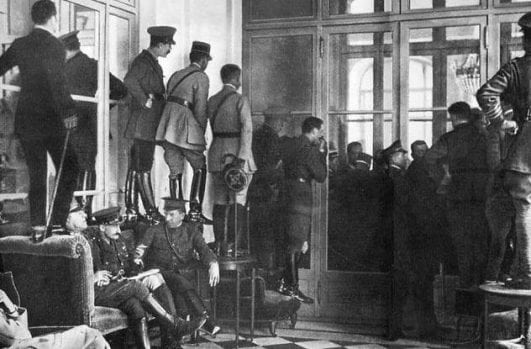 Glimpsing-the-Versailles-Signing-—-1919 instresting history event