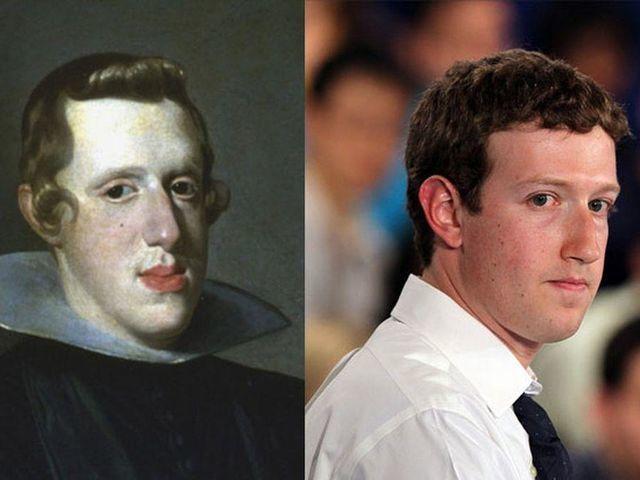 Mark Zuckerberg and Philip IV of Spain