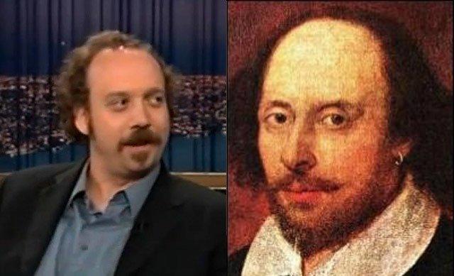 Paul Giamatti and William Shakespeare