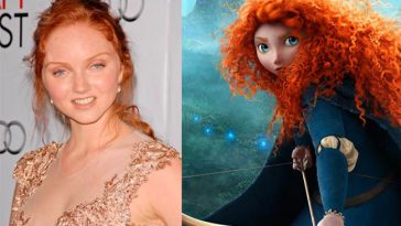 Merida - Lily Cole is the Celebrities Who Look Exactly Like Disney Characters