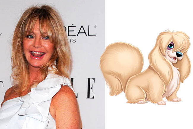 Peg - Goldie Hawn is the Celebrities Who Look Exactly Like Disney Characters