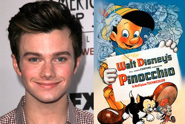 Pinocchio - Chris Colfer is the Celebrities Who Look Exactly Like Disney Characters