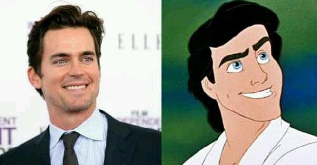 Prince Eric - Matt Bomer is the Celebrities Who Look Exactly Like Disney Characters