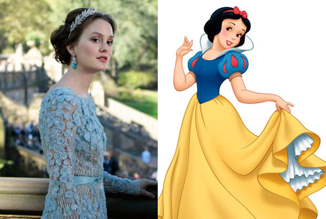 Snow White - Leighton Meester is the Celebrities Who Look Exactly Like Disney Characters