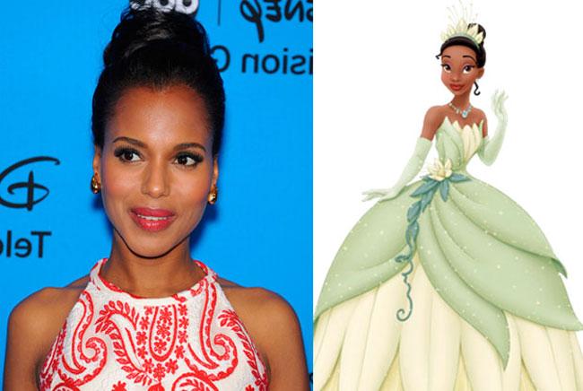 Tiana - Kerry Washington is the Celebrities Who Look Exactly Like Disney Characters