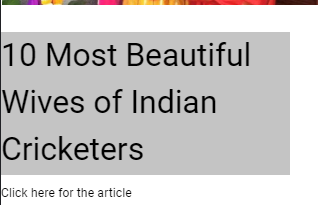 10 Most Beautiful Wives of Indian Cricketers stories