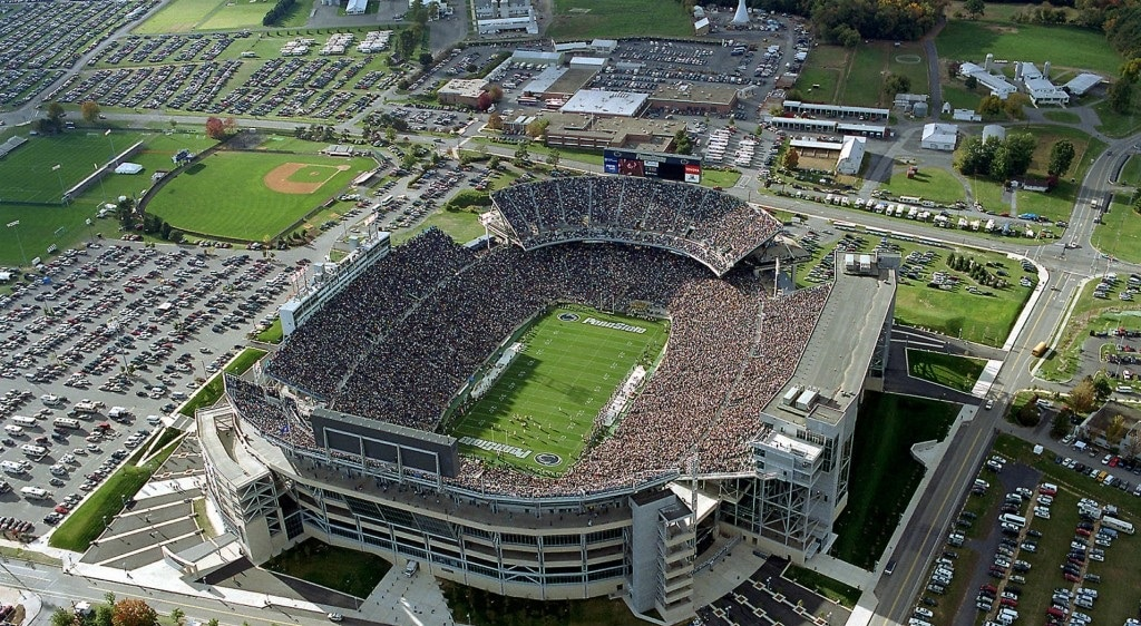 Beaver Stadium is one of the Top 10 Biggest Stadiums In The World