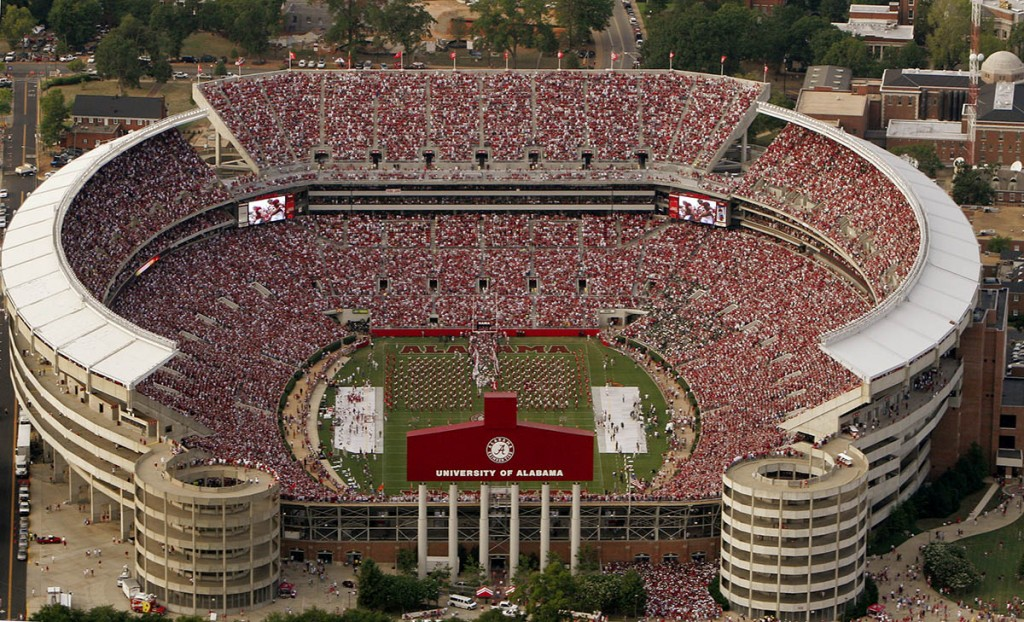 Bryant-Denny Stadium is one of the Top 10 Biggest Stadiums In The World