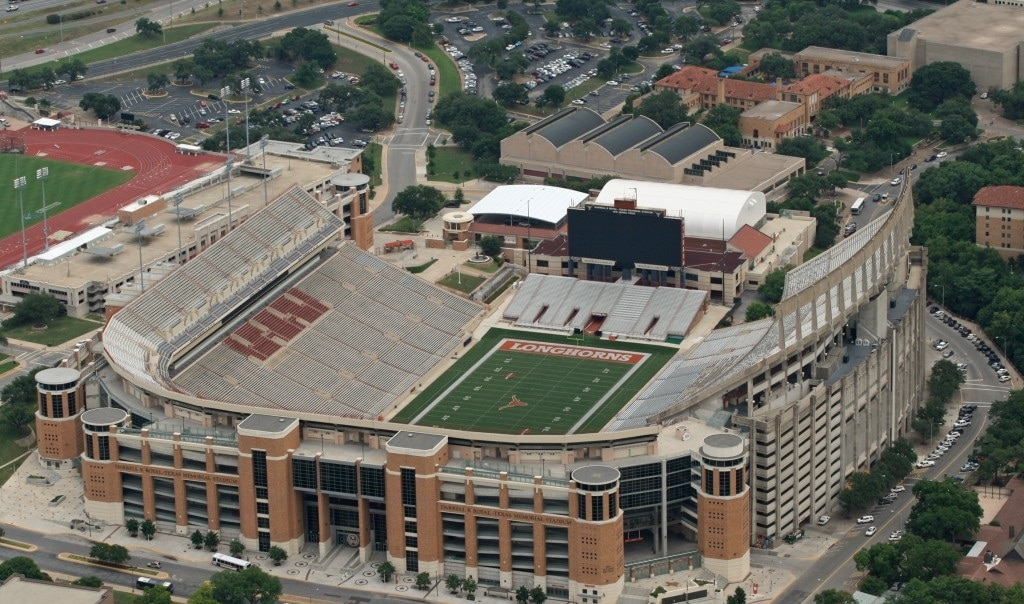 Darrel K. Royal Texas Memorial Stadium is one of the Top 10 Biggest Stadiums In The World