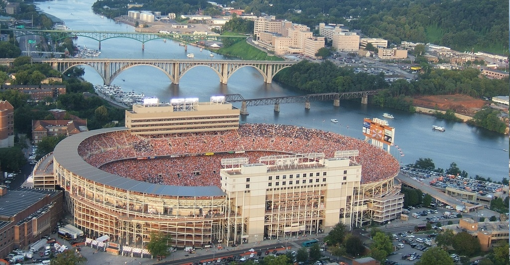 Neyland Stadium is one of the Top 10 Biggest Stadiums In The World